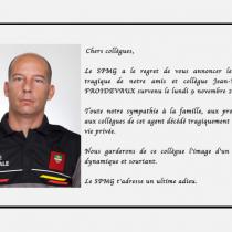 Disparition de l'agent Jean-Renaud FROIDEVAUX